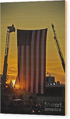 Wood Print featuring the photograph Old Glory by Jim Lepard