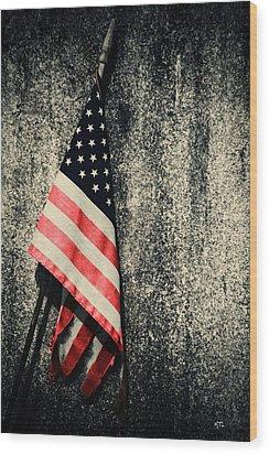 Old Glory Wood Print by Karol Livote