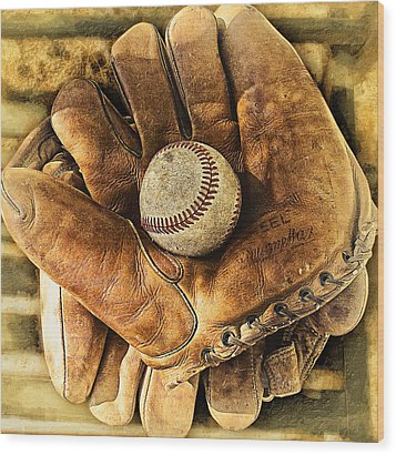 Old Gloves Wood Print by Ron Regalado
