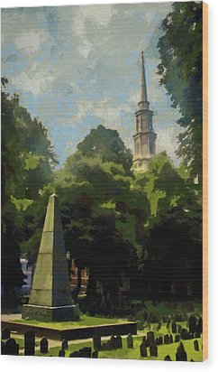 Old Granery Burying Ground Wood Print by Jeff Kolker