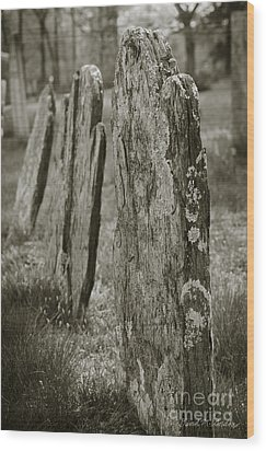 Old Gravestones I Wood Print by Dave Gordon