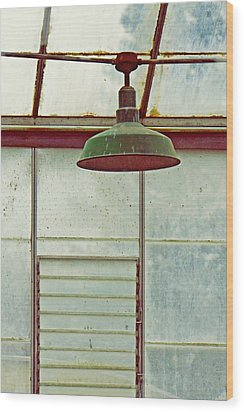 Old Green Lamp Wood Print by Patricia Strand