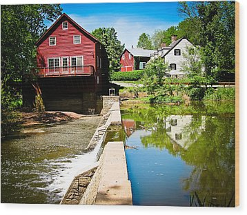 Old Grist Mill  Wood Print by Colleen Kammerer