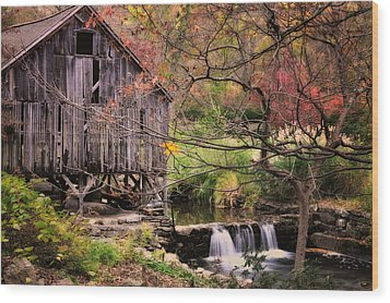 Old Grist Mill - Kent Connecticut Wood Print by Thomas Schoeller