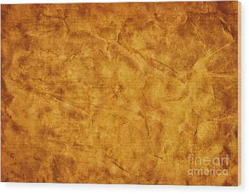Old Grunge Creased Paper Background Wood Print by Michal Bednarek