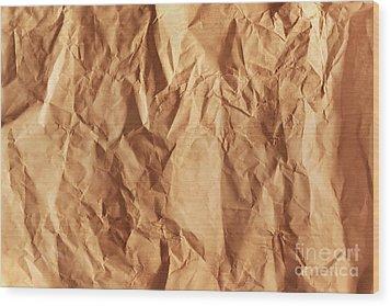 Old Grunge Creased Paper Texture. Retro Vintage Background Wood Print