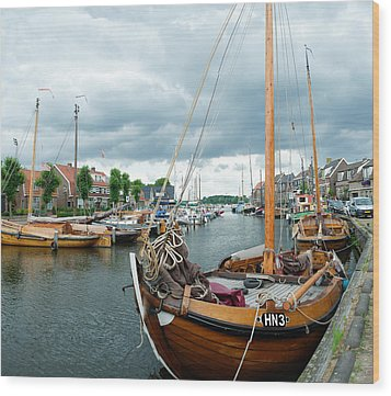 Old Harbor Wood Print by Hans Engbers