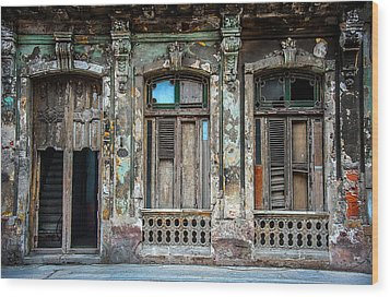 Old Havana House Wood Print by Patrick Boening