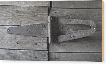 Wood Print featuring the photograph Old Hinge by J L Zarek