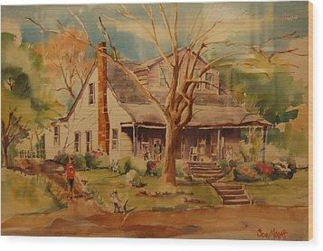 Old Home  Wood Print by Lynn Beazley Blair
