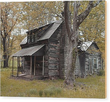 Old Home Place Wood Print by TnBackroadsPhotos