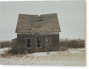 Old Homestead North Dakota Wood Print by Jeff Swan