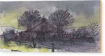 Wood Print featuring the mixed media Old Homestead by Tim Oliver
