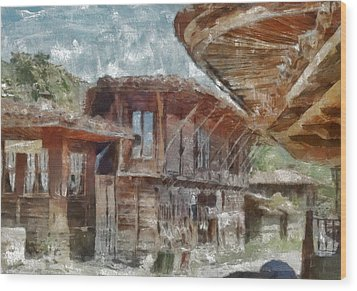 Wood Print featuring the painting Old House by Georgi Dimitrov