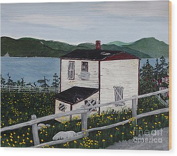 Wood Print featuring the painting Old House - If Walls Could Talk by Barbara Griffin