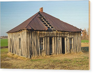 Old House Place Arkansas 2 Wood Print by Douglas Barnett