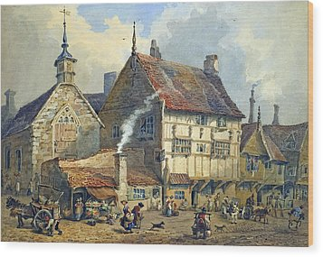 Old Houses And St Olaves Church Wood Print by George Shepherd