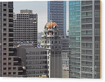 Wood Print featuring the photograph Old Humboldt Bank Building In San Francisco by Susan Wiedmann
