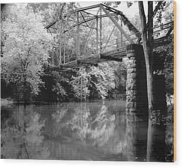 Old Iron Bridge Wood Print
