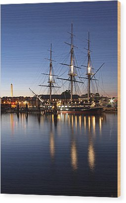 Old Ironsides Wood Print by Juergen Roth
