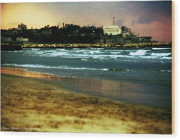 Old Jaffa In Storm 2 Wood Print by Isaac Silman