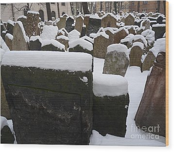 Wood Print featuring the photograph Old Jewish Cemetery by Deborah Smolinske