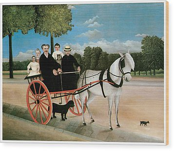 Old Junier's Cart Wood Print by Henri Rousseau
