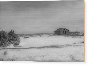 Old Kansas Farm Wood Print