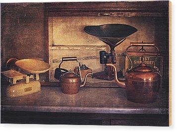 Old Kitchen Utensils Wood Print