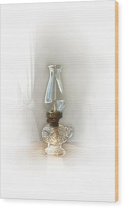 Old Lamp Wood Print by Sebastian Mathews Szewczyk