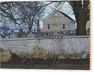 Old Leacock Presbyterian Church And Cemetery Wood Print