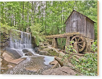 Old Lefler Grist Mill Wood Print