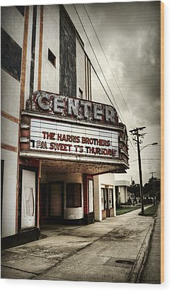 Old Lenoir Nc Movie Theater Wood Print
