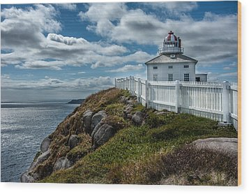 Old Light House Wood Print by Patrick Boening