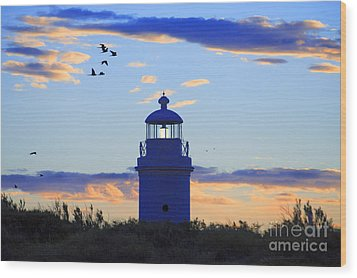 Old Lighthouse Wood Print by Bernardo Galmarini