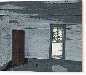 Old Log House Interior Wood Print by Joyce  Wasser