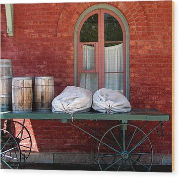 Wood Print featuring the photograph Old Mail Wagon by Mary Bedy