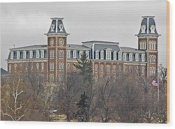 Old Main Wood Print by Iris Page