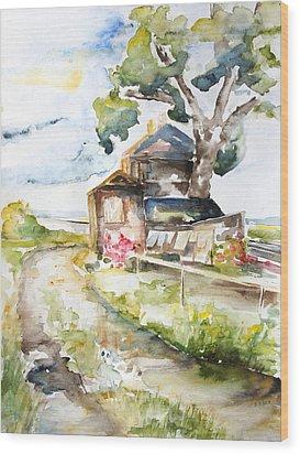 Old Mecklenburg Rail Station Nossentin Wood Print by Barbara Pommerenke