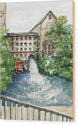 Old Mill Aqueduct Wood Print by Elle Smith Fagan
