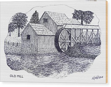 Old Mill Wood Print by Frederic Kohli