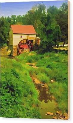 Old Mill In Springtime Wood Print