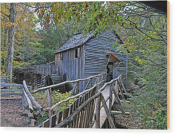 Old Mill Wood Print by Kenny Francis