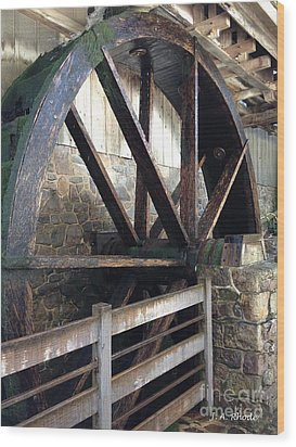 Wood Print featuring the photograph Old Mill Water Wheel by Jeannie Rhode
