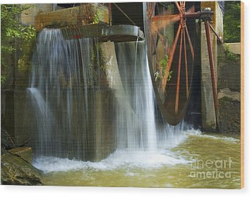 Old Mill Water Wheel Wood Print by Paul W Faust -  Impressions of Light