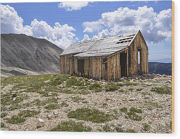 Old Mining House Wood Print by Aaron Spong