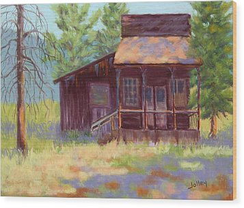 Wood Print featuring the painting Old Mining Store by Nancy Jolley