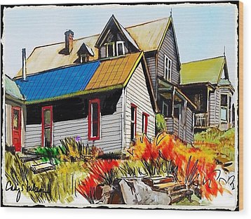 Old Mining Town Wood Print by Craig Nelson