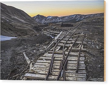 Old Mining Tracks Wood Print by Aaron Spong