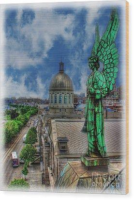 Old Montreal Angel II Wood Print by Lee Dos Santos